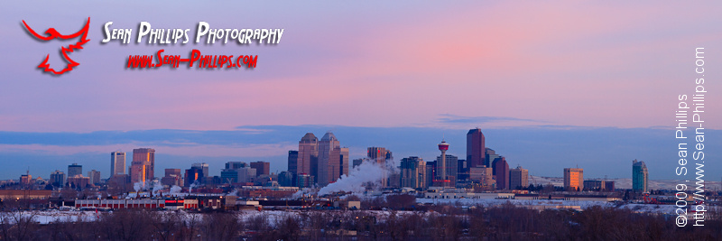 Calgary Skyline at Sunrise
