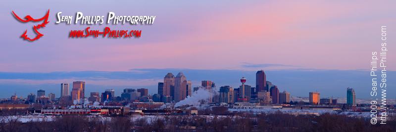 Calgary Skyline at Sunrise