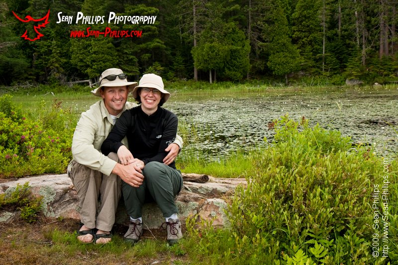 Sean and Louise at McCarthy Creek in Algonquin