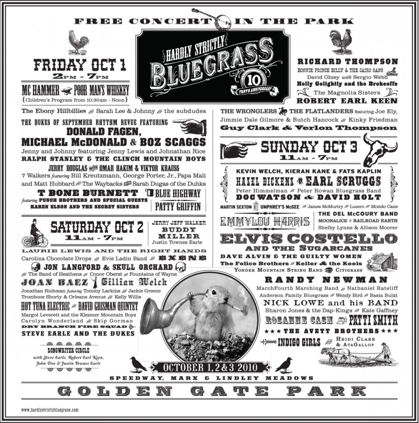 Gopher Image in Use - Hardly Strictly Bluegrass Festival Poster