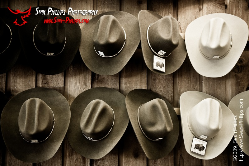 Wall of Hats - Black and White