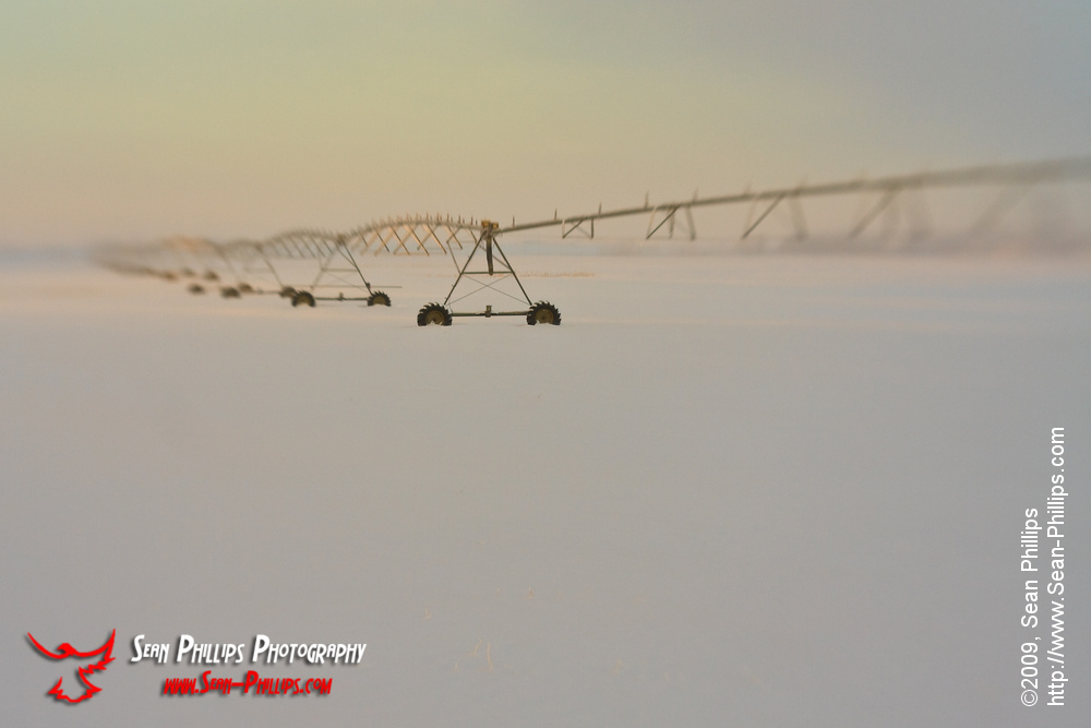Irrigation Pivots in Winter